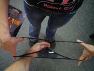 Nohavičky čierne s gumou v páse, SL