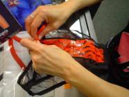 Prádlo ženy nohavičky čierno-červené otvárací SL