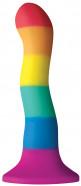 Dildo s prísavkou Rainbow Wave (17 cm)