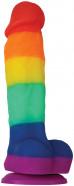 Dildo s prísavkou Rainbow Pride (17 cm)