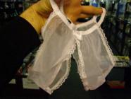 Nohavičky vykrojené biele SL