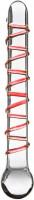 Sklenené dildo GlassWork Spiral (22 cm)