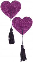 Nálepky na bradavky Purple Hearts