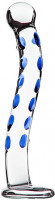 Sklenené dildo GlassWork Bow (22,7 cm)
