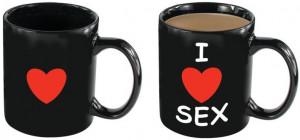 Žartovný hrnček I Love Sex (250 ml)