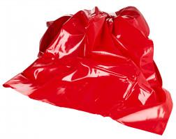 Červené PVC prestieradlo Dirty Mind (203 × 226 cm)