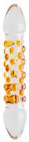 Sklenené Dildo Orange (17 cm)