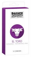 Secura El Toro - kondómy s erekčným krúžkom (12 ks)