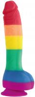 Dildo s prísavkou Rainbow Lust (20 cm)